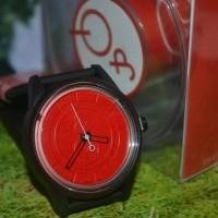 Jam Tangan QnQ Analog Smile Solar Black-red