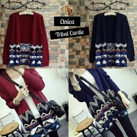 Red Tribal Cardigan Rajut