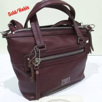 harga Tas Authentic Branded FOSSIL Dawson Maroon Original Asli Tokopedia.com