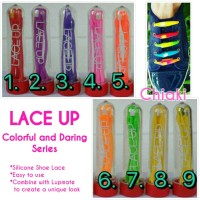 Lace Up Colorful and Daring Silicone Shoe Lace Tali Sepatu lupmate