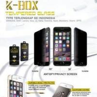 Tempered Glass Anti SPY BB Z3 / Z10 Blackberry Antigores Kaca Hitam
