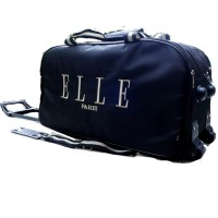 Jual TAS TRAVEL BAG TROLLEY ELLE PARIS WARNA HITAM/TRAVEL BAG ELLE BLACK Murah