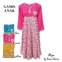 ALYA Gamis Anak Perempuan / Baju Muslim / Dress Rok Panjang Murah Adem