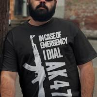 Tshirt In Case Of Emergency I Idial Ak 47 - Hitam