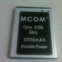 Baterai Cyrus Glory G1000 Tbt9605 Double Power Merk Mco.