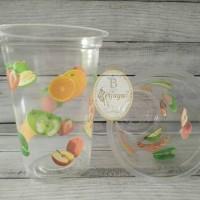 Gelas plastik fruit @50pcs /slop