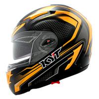 Helm KYT Alpha Venom Black Orange FullFace Full Visor