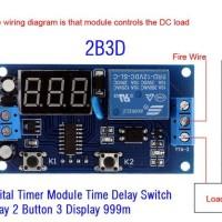 Jual Digital Timer Module (2B3D) Time Delay Switch Relay 2 Button 3 Display Murah