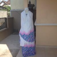 harga Mukena Bali motif bulu Merak Tokopedia.com