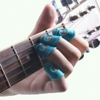 Pelindung Jari Silikon untuk Memetik Senar Gitar isi 4pcs