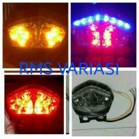 lampu stop assy LED + sen motor ninja rr new & ninja 250 carbu