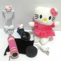 Jual Paket Special Selfie Hello kitty Tongsis Superwide Powerbank boneka Murah