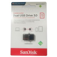 Jual SANDISK FLASHDISK USB 3 OTG 16GB /UP TO 130 MB/S Murah