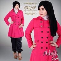 Adelia Set Coat Balotelli + Celana Daichi Fashion Hijab Eropa Mode