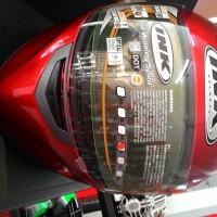 Helm INK Duke Putih Solid Full Face Double System Fullface