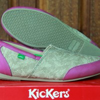 Sepatu Kickers Wanita Cream Ungu / Fashion & Aksesoris / Flat Shoes