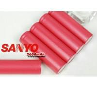 baterai/batere/batery sanyo 2600mah pas buat vapor rokok elektrik
