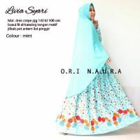 baju muslim abaya gamis syar'i crepe Livia ori naura