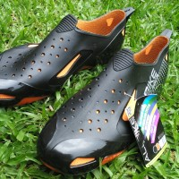 Sepatu AllBike Hitam ORANGE Sepatu Boots Biker Sepeda ALL BIKE ORANGE