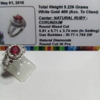 Cincin Emas Berlian Eropa dan Ruby