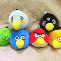 Boneka angry birds set (6pcs) 10cm, gantung kaca