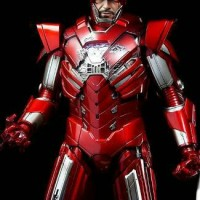 "Hot Toys Iron Man Mark 33 Silver Senturion ""Iron Man 3"""