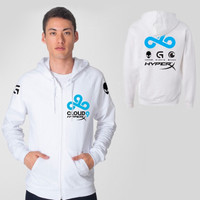 CLOUD 9 Team White Hoodie | Jacket Hoodie Gaming