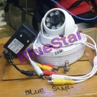 Paket Camera CCTV Indoor 900 TVL Infared + kabel 20 Meter