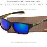 Jupiter Squared Carbon - Black / Jade Polarized