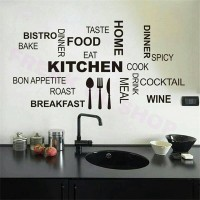 Kitchen Letter Wall Stickers Mural Decal Quotes Art