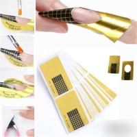 Nail form gold 50pcs acrylic nail art gel nails extension kuku