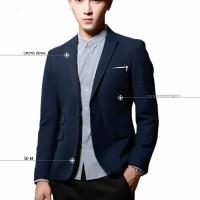 Jual Jas Blazer Blue Skinny Suit Murah