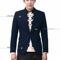 Jual Jas Blazer Royal Blue Skinny korean style Murah