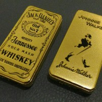 Korek Gas Sliding Glow Jack Daniel's Gold, Korek Api Johnnie Walker