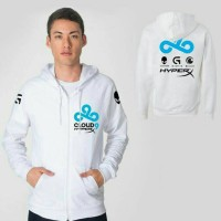 Jaket Cloud 9 White Hoodie Gaming