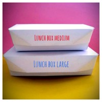Paper Lunch Box/ box Makanan uk. LARGE polos