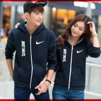 [ Cp Jkt Just Do It CL] pakaian couple jaket warna navy