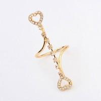 Cincin Korea Forever 21 diamond decorated hollow out heart shape