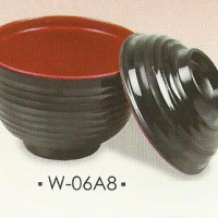 Mangkok Sup + Tutup Melamine (Ala Hanamasa)