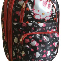 Troley bag ,Tas Travel troli ,trolley hello kitty Large BLack reD