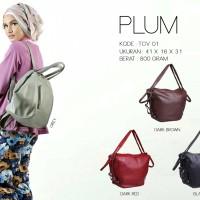 Jual Tas Wanita Multifungsi Model Terbaru Lucu & Simple - Viyar Plum Bag Murah