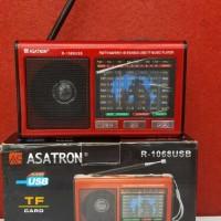 Jual Radio Asatron R-1068 9 bands USB+Lampu emergency/Radio murah/Radio Jad Murah
