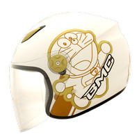 harga Helm Bmc Milan cartoon doraemon retro white /orange Tokopedia.com