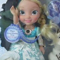 Boneka Frozen Snow Glow Elsa Plas Award Winning Song LET IT GO