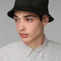 topi bucket hat hitam polos distro bahan dobel bolak balik bulat