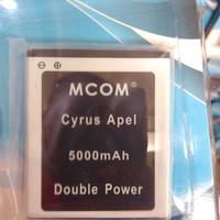 baterai battery batre Cyrus apel dobel power mcom 5000mah