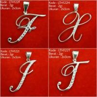 Liontin Inisial Nama Huruf F H I J KL122 Kado Hadiah Silver Perak 925