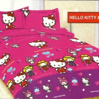 Sprei Merk Bonita 3D Motif Hello Kitty & Friend Ukuran 120 x 200