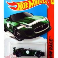 Hot Wheels - '15 Jaguar F-Type Project 7 HIJAU / GREEN Track Stars