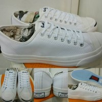 harga Sepatu Skate Converse All Star Jack Purcell Leather Low White Tokopedia.com